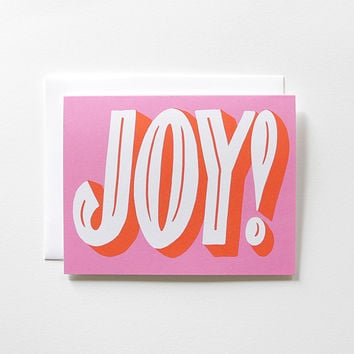 Mid Century Modern Joy! Holiday Card
