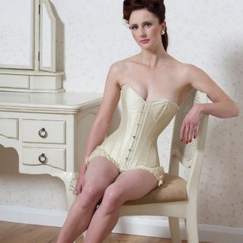 fgm-evangeline-ivory-satin Classic sweetheart overbust corset in ivory satin