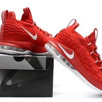 Nike LeBron 15 XV Low Red/White Basketball Shoe 40-46