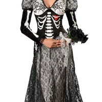 Super Deluxe Boneyard Bride Costume - Day of the Dead Costumes