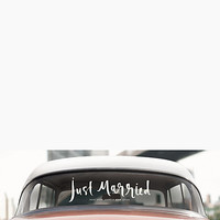 Kate Spade Just Married Window Cling White ONE