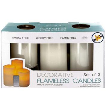 Flameless Vanilla Candles with Remote Control ( Case of 6 )