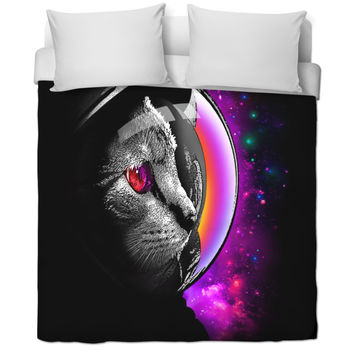 Space Cat Bed Sheets