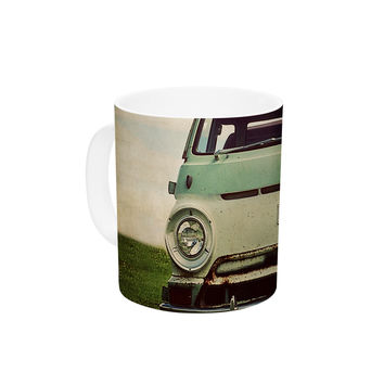 "Angie Turner ""Dodge"" Green Car Ceramic Coffee Mug"