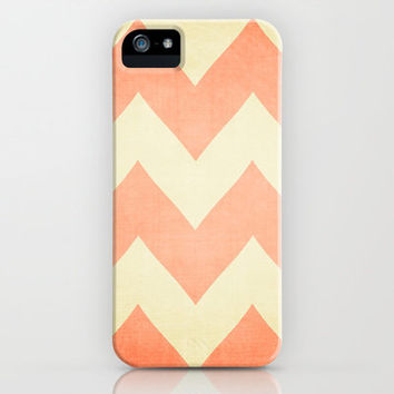 Fuzzy Navel - Peach Chevron iPhone & iPod Case by CMcDonald