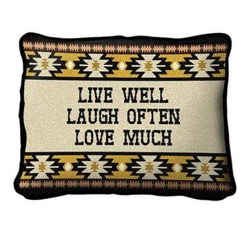 Pure Country Weavers Home Decor Live West Pillow