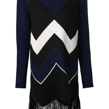 DCCKIN3 Timo Weiland chevron fringe sweater top