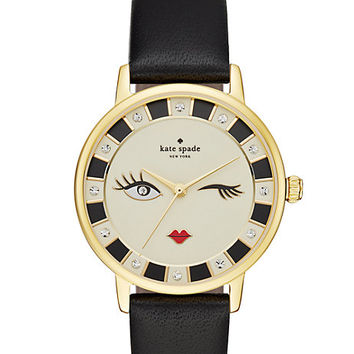 Kate Spade Black Wink Metro Watch Black/Gold ONE