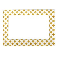 Faux gold dots pattern magnetic frames