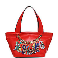 Moschino - Looney Tunes Logo Charm Leather Tote - Saks Fifth Avenue Mobile