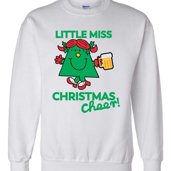 Little Miss Christmas Cheer, Merry CHristmas Happy Holidays Shirt Xmas Party, Christmas Morning, beer 80s