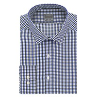Arrow Slim-Fit Plaid Wrinkle-Free Dress Shirt - Men, Size: