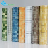 PVC Mosaic Kitchen Waterproof Self Adhesive Wallpaper