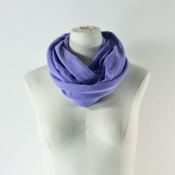 LAVENDER Infinity Scarf - Petite Infinity Scarf - Violet Eternity Scarf - Orchid Loop Scarf - Adults and Kids