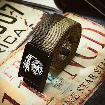 DCCKUNT The New Stussy Print Canvas Waistband
