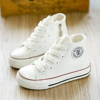 2016 new spring autumn children shoes girls Fashion child canvas shoes boys high shoes