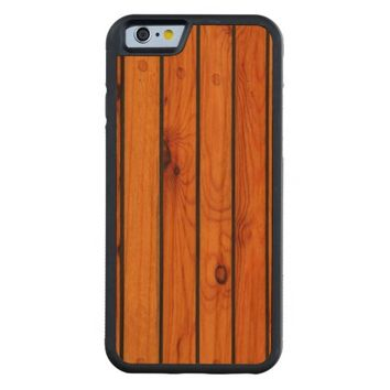 Carved wooden shipdeck Iphone case Cherry iPhone 6 Bumper Case