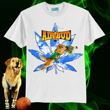 UNISEX Air Bud Weedtriever Marijuana Slam Dunk T-shirt // WHITE // 90s Disney Movies // fASHLIN