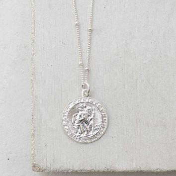Saint Christopher Coin - Silver