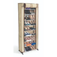 30 Pair Shoe Rack with Cover