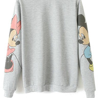 Character Print Long Sleeve Sweatshirt