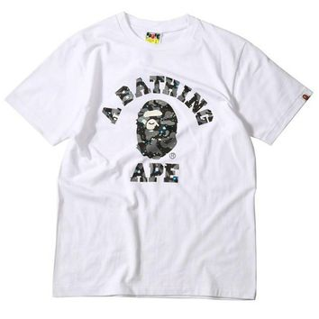 spbest A Bathing Ape Space Camo College T-Shirt