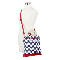 Lulu by Lulu Guinness™ Cutout-Handle Striped Tote