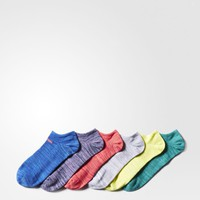 adidas Superlite No-Show Socks 6 Pairs - Blue | adidas US