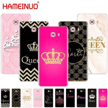Trendy HAMEINUO Queen and king crown Coque cover phone case for Samsung Galaxy C5 C7 C8 C9 C10 J2 PRO 2018 AT_94_13