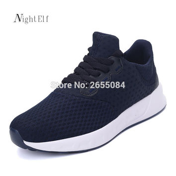 Night Elf men running shoes women breathable air mesh tennis sneakers 2016 autumn Winter lovers sport training walking shoes new