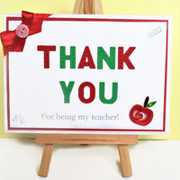 Teacher card, thank you teacher, thank you card, quilled card, teacher appreciation, card for teacher, teacher thank you, school card