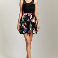 Finest Floral Dress - Black