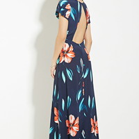 Cutout-Back Floral Maxi Dress | Forever 21 - 2000150909