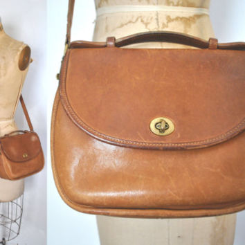 Vintage Coach Bag   brown leather purse 09aa2a906f1ed