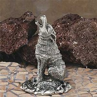 Howling Coyote Collectible Pewter Cone Incense Burner Aromatherapy