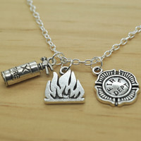 Firefighter Charm Pendant Necklace