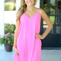 Stay Right Here Dress - Pink