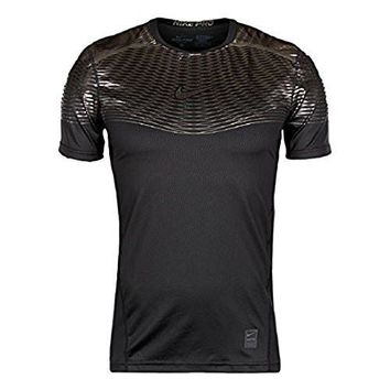 nike pro Black hypercool max fitted training shirt size large
