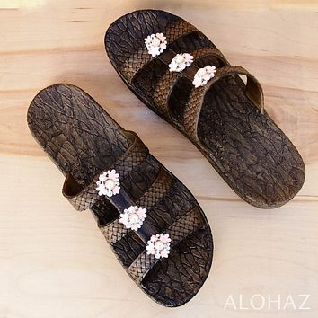 brown jaya pearl jam jandals® - pali hawaii sandals