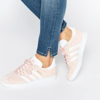 adidas Originals Pink Suede Gazelle Sneakers