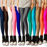 Solid Candy Neon Plus Size Women's Leggings