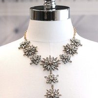 Pointy Flower Statement Necklace