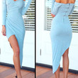 Sher - Blue Pleated Maxi Dress