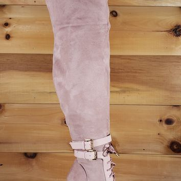 Ashanti Blush Pointy Toe High Heel OTK Above Knee Boots