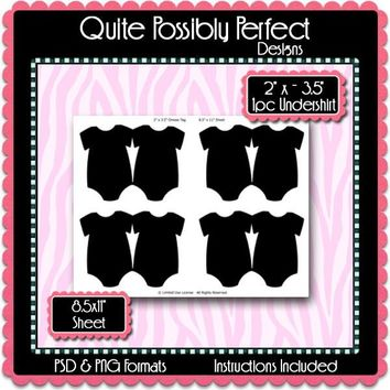 XL Baby T-Shirt Tag Template Instant Download PSD and PNG Formats (Temp483) Digital Bottle Cap Collage Sheet Template