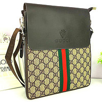 Boys & Men GUCCI Office Bag Leather Satchel Shoulder Bag Crossbody