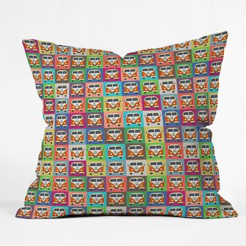 Sharon Turner Peace Campers Throw Pillow