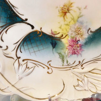 RS Prussia Large Charger 12 1900s Art Nouveau Victorian Antque Porcelain R S Prussia Cake Plate Platter Plate Rare Large Size RS Prussia