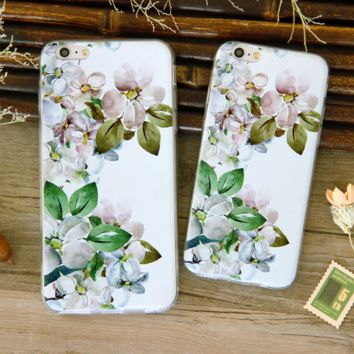 New Fresh  Flower Printed Iphone 7 7Plus 5 5s Se 6 6s Plus Cover Case Best Gift 004