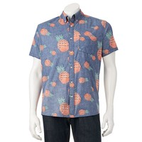 Urban Pipeline Graphic Button-Down Shirt - Big &